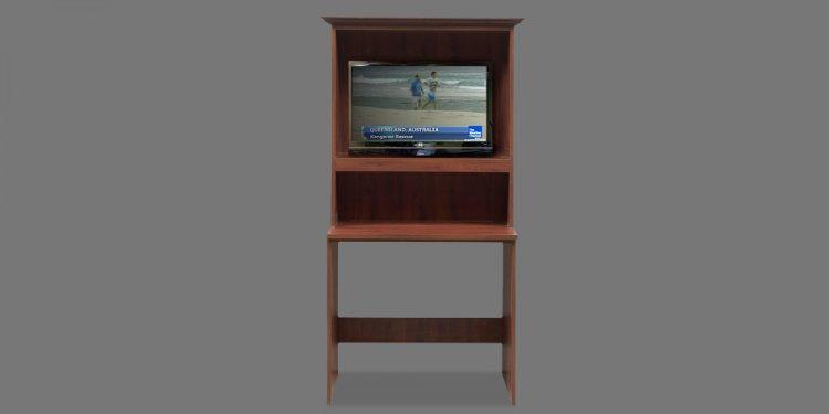 Corner computer desk tv stand