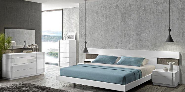 Amore White Premium Bedroom Set