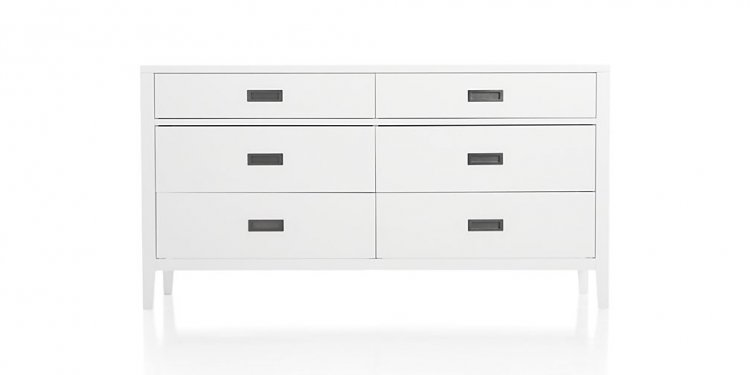 White 6-Drawer Dresser