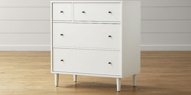 Barnes White 4-Drawer Chest
