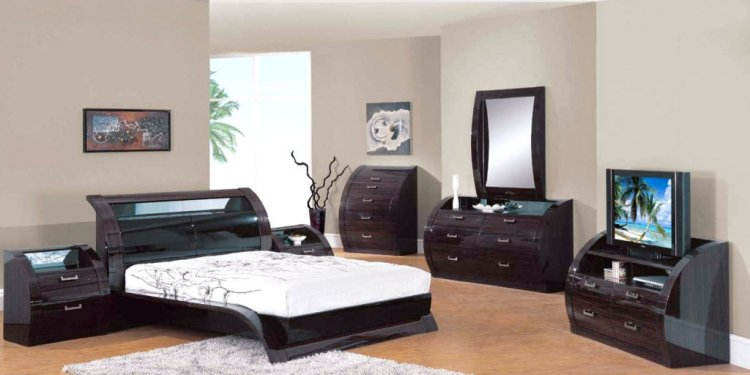 Bedroom Set Bed Dresser Mirror