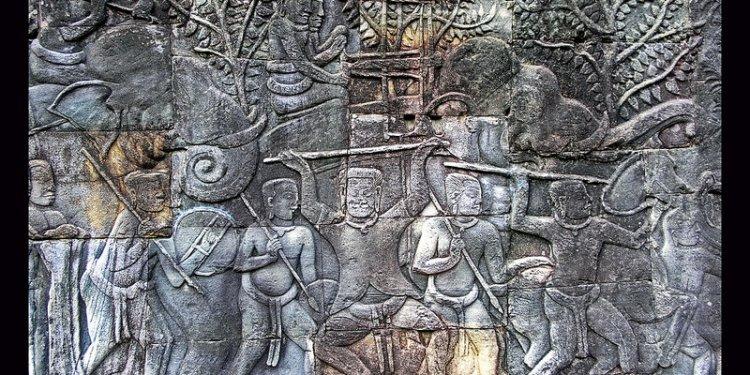 Cambodia - Bayon Temple - Bas Relief - 13