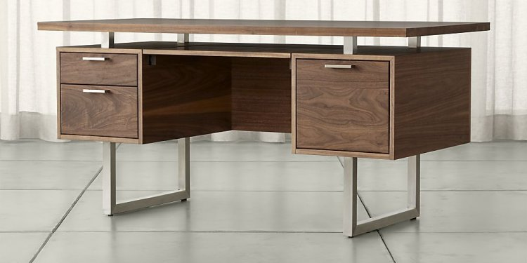 Clybourn Walnut Executive Desk