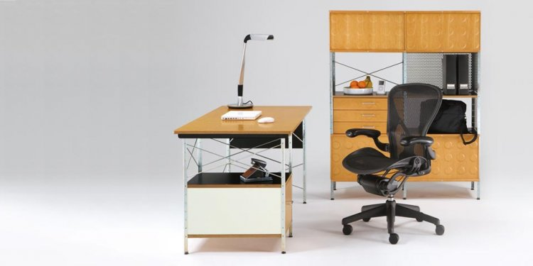 Eames Desks and Storage Units