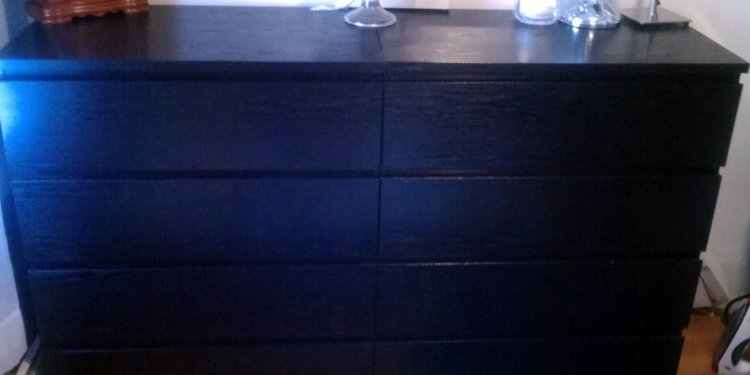 IKEA BLACK MALM 4-DRAWER