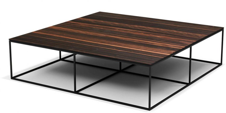 Square large coffee table can