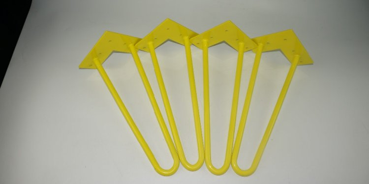 12 inch Yellow Hairpin Metal