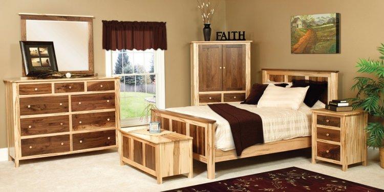 USA Made walnut maple bedroom