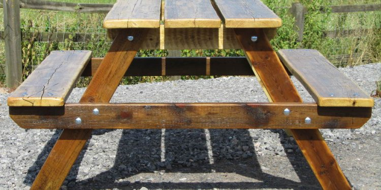 Picnic table made from