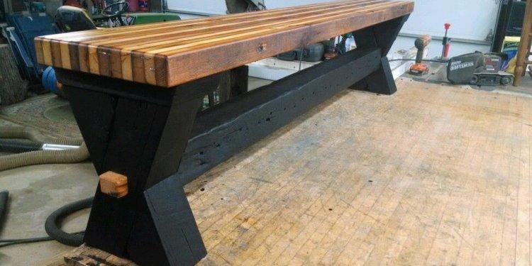 Reclaimed barn wood bench