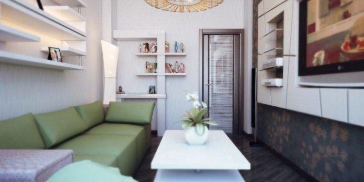 Small and narrow living room