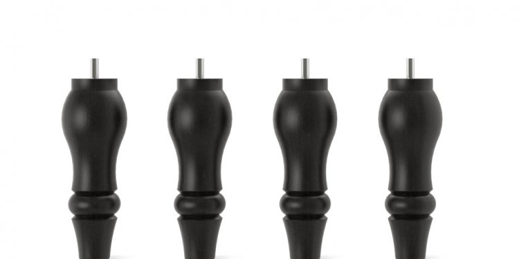 Four black STOCKSUND sofa legs
