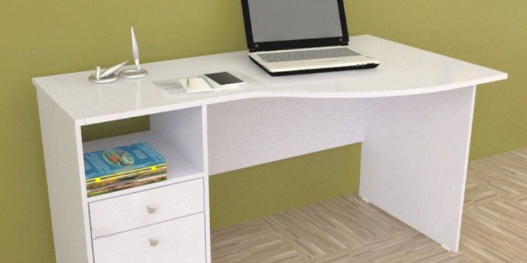 White Desk With Drawers On