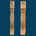 A0541 Square Bun Feet Series Quantity Discounts Available by Adams Wood Products.