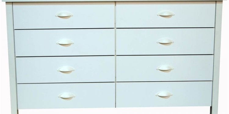 8 Drawer Black Dresser