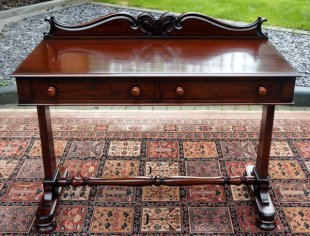 Antique Writing table with Polished Wood top.
