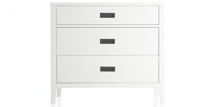 White three Drawer Dresser
