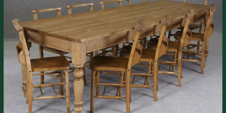 Pine tables and chairs