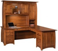 Coronado L-Desk with Hutch