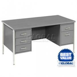 Global - Double Pedestal Steel Desks