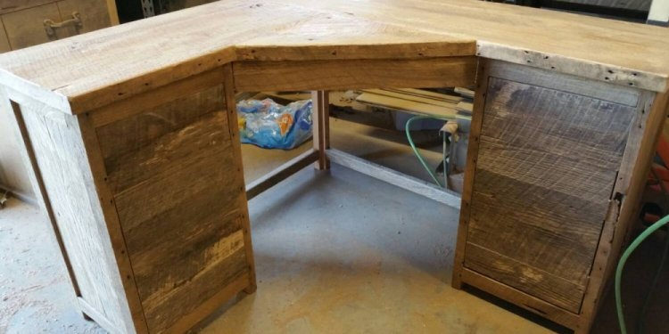 Reclaimed wood corner desk reclaimed pine furniture Reclaimed wood furniture colorado