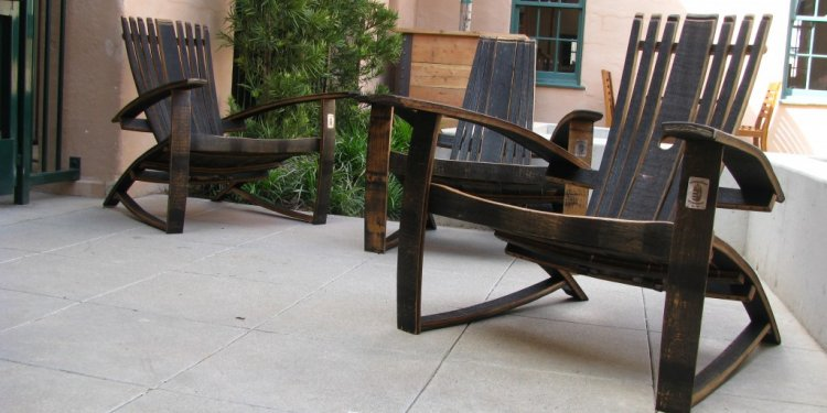 Reclaimed wood Adirondack chairs