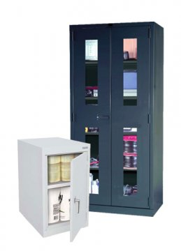 See-Through and Counter Height Storage Cabinets
