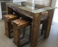 Cheap Reclaimed Wood Dining Table