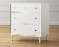 White Four Drawer Dresser