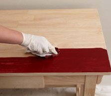 Working Desk Stain into Wood Grain